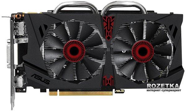 Asus PCI-Ex GeForce GTX 950 Strix 2048MB GDDR5 (128bit) (1140/6610) (2 x DVI, HDMI, DisplayPort) (STRIX-GTX950-DC2OC-2GD5-GAMING) - изображение 1