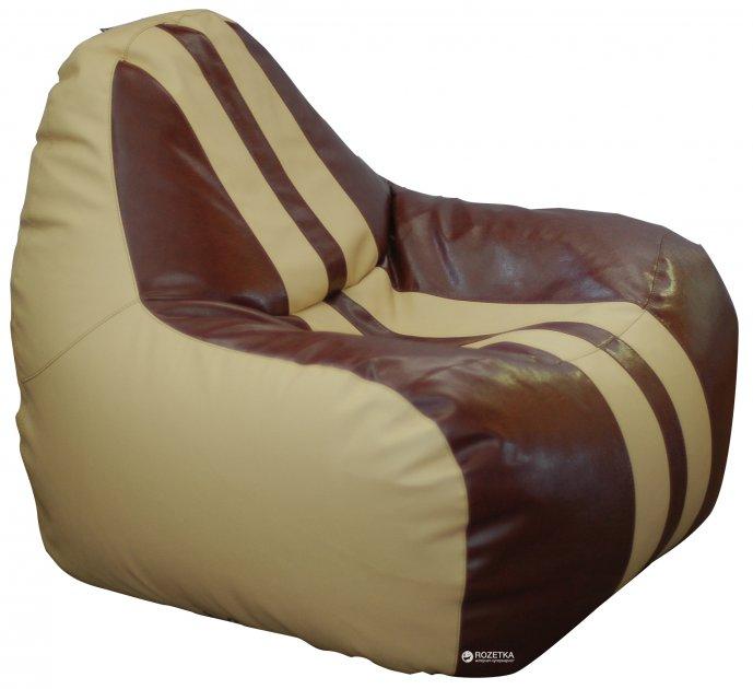 Крісло-Груша Примтекс Плюс Simba Sport H-2201/H-002 S Beige-Brown - зображення 1