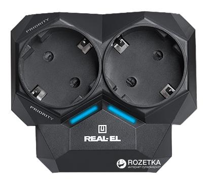 Автоматический регулятор нагрузки сети Real-El AR-01 Black - изображение 1