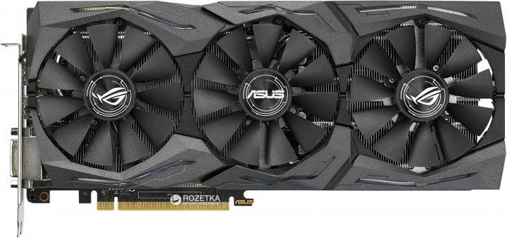 Asus PCI-Ex GeForce GTX 1080 ROG Strix 8GB GDDR5X (256bit) (1759/10000) (DVI, 2 x HDMI, 2 x DisplayPort) (STRIX-GTX1080-O8G-GAMING) - изображение 1
