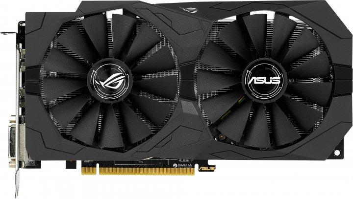 Asus PCI-Ex Radeon RX470 ROG Strix OC 4GB GDDR5 (256bit) (1250/6600) (2 x DVI, HDMI, DisplayPort) (STRIX-RX470-O4G-GAMING) - изображение 1