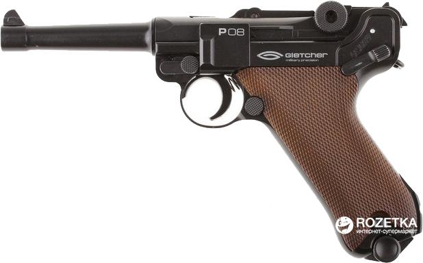 Пневматичний пістолет Gletcher P08 (44836) - зображення 1
