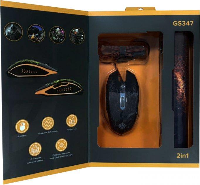 Комплект GamePro Gameset 2 в 1 мышь + игровая поверхность USB (GS347) - изображение 1