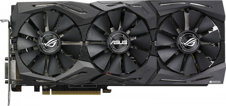 Asus PCI-Ex Radeon RX580 ROG Strix OC 8GB GDDR5 (256bit) (1360/8000) (DVI, 2 x HDMI, 2 x DisplayPort) (ROG-STRIX-RX580-O8G-GAMING) - зображення 1
