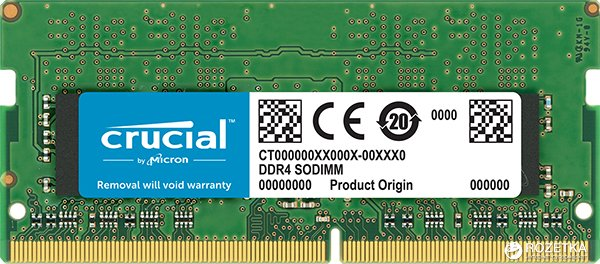 Оперативная память Crucial SODIMM DDR4-2400 4096MB PC4-19200 (CT4G4SFS824A) - изображение 1