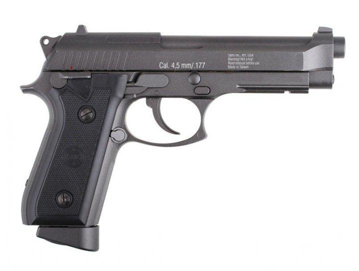 Пневматический пистолет Gletcher BRT 92FS Auto Blowback Beretta M92 FS автоматический огонь блоубэк 100 м/с - изображение 1