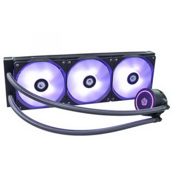 Система водяного охлаждения ID-Cooling Auraflow X 360, Intel: 2066/2011/1366/1151/1150/1155/1156, AMD: TR4/AM4/FM2+/FM2/FM1/AM3+/AM3/AM2+/AM2, 396х120х27 мм, 4-pin - изображение 1