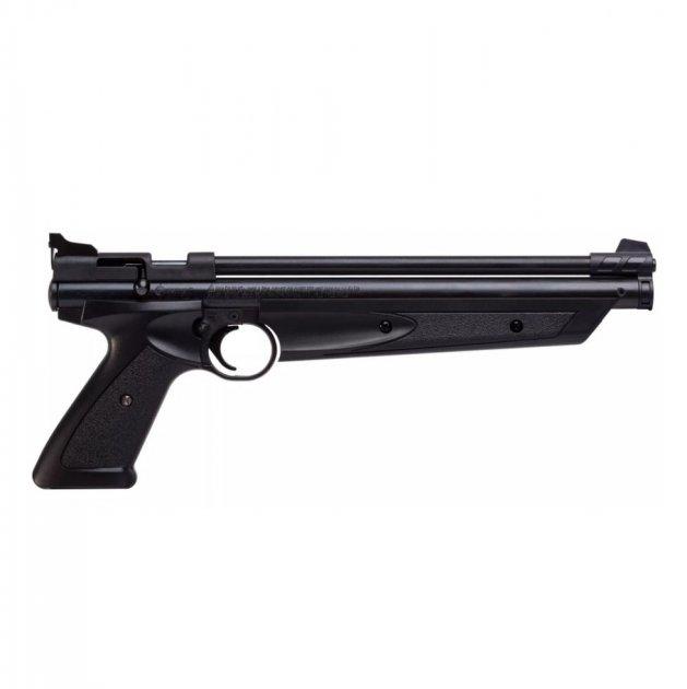Пневматичний пістолет Crosman American Classic P1377 чорний мультикомпресійний 183 м/с - зображення 1
