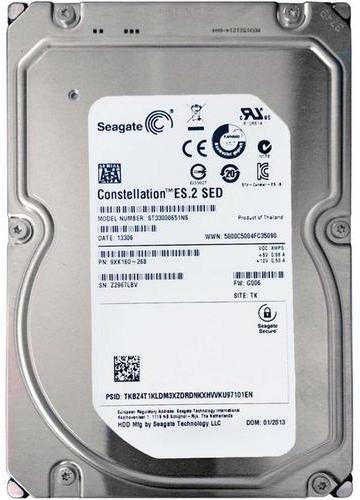 "Жорсткий диск Seagate Constellation 3ТБ 7200об/м 64МБ 3.5"" SATA III (ST33000651NS) - зображення 1"