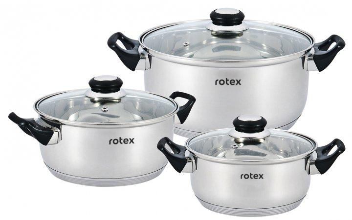 Набор кастрюль Rotex Bergamo из 6 предметов (RC011-6L Bergamo)