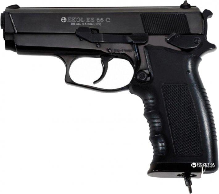Пневматичний пістолет Ekol ES 66 С Black (Z27.19.003) - зображення 1
