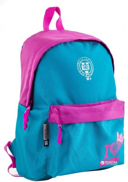 Рюкзак подростковый YES OX-15 Teal 42x29x11 см Розовый с бирюзовым (553482) - изображение 1