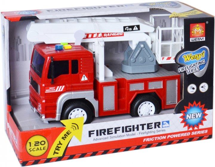 Машинка фрикционная WenYi Пожарная со светом и звуком (6910010550010) - изображение 1