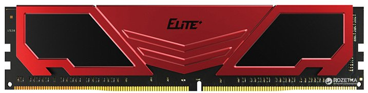 Оперативна пам'ять Team Elite Plus DDR4-2400 8192MB PC4-19200 Red (TPRD48G2400HC1601) - зображення 1