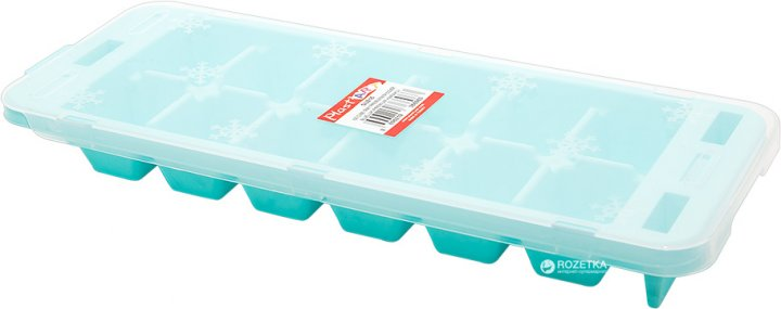 Форма для льда Irak Plastik Premium с крышкой 30.5х11 см Бирюзовая SU-215 (5305kmd) - изображение 1