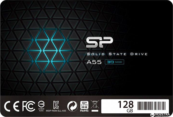 "Silicon Power A55 128GB 2.5"" SATAIII TLC (SP128GBSS3A55S25) - изображение 1"