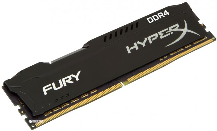 Оперативная память HyperX DDR4-3200 8192MB PC4-25600 Fury Black (HX432C18FB2/8) - изображение 1