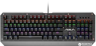 Клавиатура проводная Aula Assault Mechanical USB Metallic (6948391239309) - изображение 1