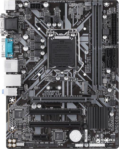 Материнська плата Gigabyte H310M S2P (s1151, Intel H310, PCI-Ex16) - зображення 1