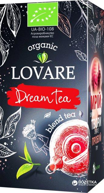 Чай бленд зеленого и черного пакетированный органический Lovare DreamTea 24 x 1.5 г (4820198872335) - изображение 1