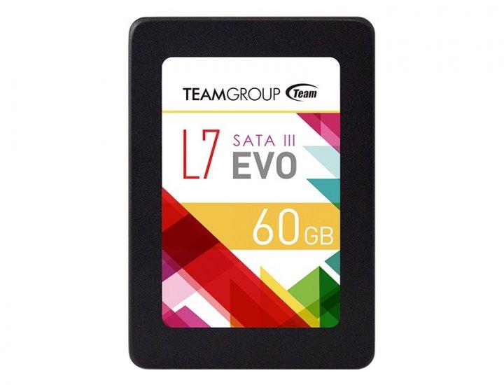 "Накопитель SSD 60GB Team L7 EVO 2,5"" SATAIII TLC (T253L7060GTC101) OEM - изображение 1"