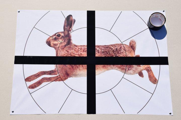 """Мішень Сателіт 16-ти дольная """"Заєць"""" А1(А3) 48 аркушів колір (125) - зображення 1"""