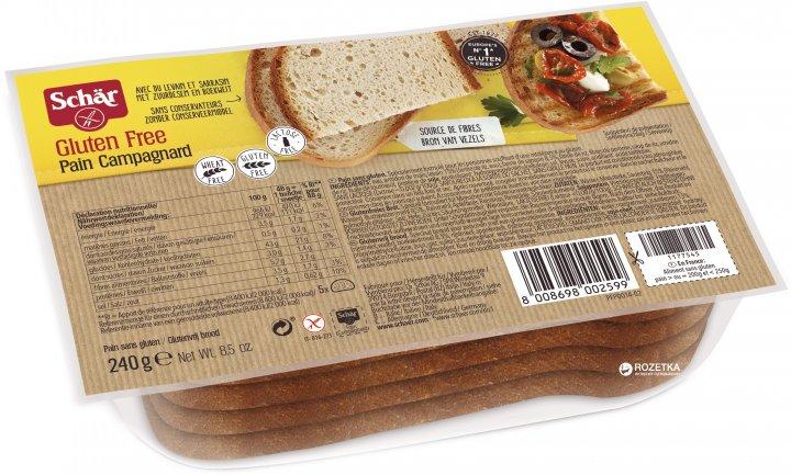 Хлеб сельский Dr. Schar Pain Campagnard 240 г (8008698002599) - изображение 1