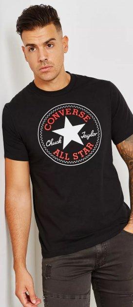 Футболка Converse Left Chest Star Chevron Tee 10007887-001 S (888755667156) - зображення 1