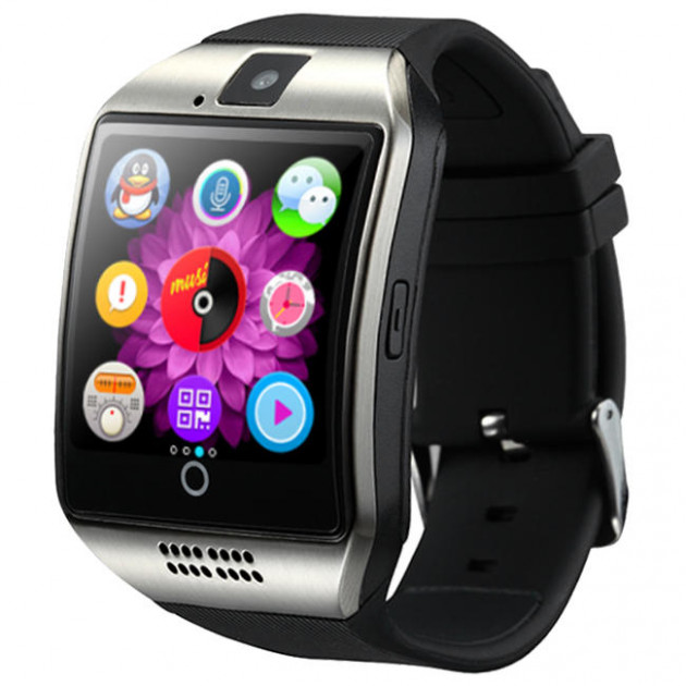 Смарт-годинник UWatch Q18 Silver/Black - зображення 1