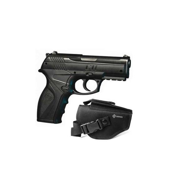 Пневматический пистолет Crosman С 11 с кобурой (пластик) - изображение 1