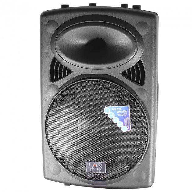 Акустическая система LAV PA-120 Black Мощность 400 Вт выдвижная ручка Bluetooth Радио микрофон и пульт в комплекте - изображение 1