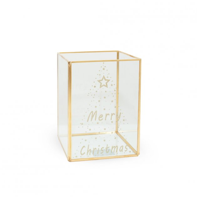 Скляний Бокс Merry Christmas 18 х 13,2х13,2 см Kaktus (110647) - зображення 1