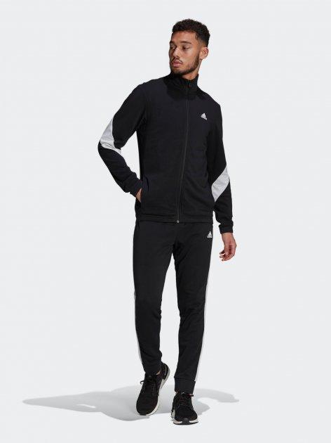 Спортивний костюм Adidas M Cotton Ts GM3826 L Black/White (4064044078568) - зображення 1