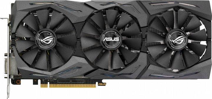 Asus PCI-Ex GeForce GTX 1080 ROG Strix 8GB GDDR5X (256bit) (1607/10010) (DVI, 2 x HDMI, 2 x DisplayPort) (STRIX-GTX1080-8G) - изображение 1