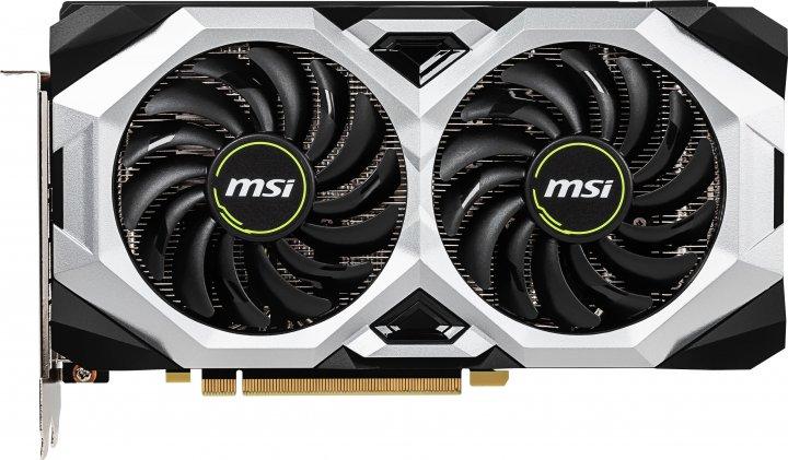 MSI PCI-Ex GeForce RTX 2060 Ventus 6G 6GB GDDR6 (192bit) (1680/14000) (3 x DisplayPort, 1 x HDMI 2.0b) (RTX 2060 VENTUS 6G) - зображення 1