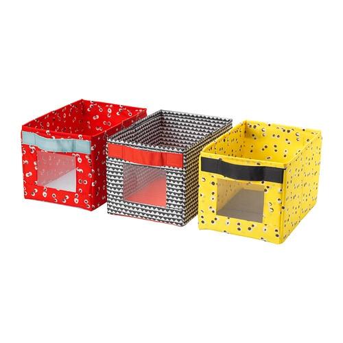 Набір коробок IKEA ANGELÄGEN 18x27x17 см 3 шт різнокольорові 504.179.49 - зображення 1