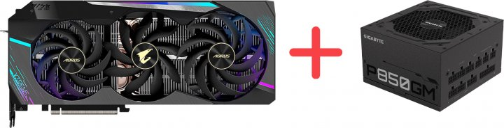 Gigabyte PCI-Ex GeForce RTX 3090 Aorus Xtreme 24GB GDDR6X (384bit) (1695/19500) (3 х HDMI, 3 x DisplayPort) (GV-N3090AORUS X-24GD) + Блок питания Gigabyte P850GM 80+ Gold Modular (P850GM) в подарок! - изображение 1