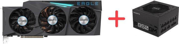 Gigabyte PCI-Ex GeForce RTX 3090 EAGLE OC 24GB GDDR6X (384bit) (2 х HDMI, 3 x DisplayPort) (GV-N3090EAGLE OC-24GD) + Блок питания Gigabyte P850GM 80+ Gold Modular (P850GM) в подарок! - зображення 1