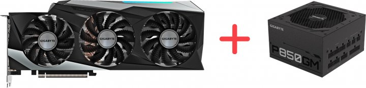 Gigabyte PCI-Ex GeForce RTX 3090 GAMING OC 24 GB GDDR6X (384 bit) (2 х HDMI, 3 x DisplayPort) (GV-N3090GAMING OC-24GD) + Блок питания Gigabyte P850GM 80+ Gold Modular (P850GM) в подарок! - зображення 1
