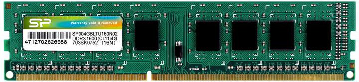 Оперативная память Silicon Power DDR3-1600 4096MB PC3-12800 (SP004GBLTU160N02) - изображение 1