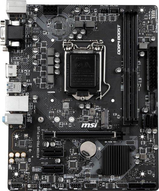 Материнська плата MSI H310M Pro-M2 Plus (s1151, Intel H310, PCI-Ex16) - зображення 1