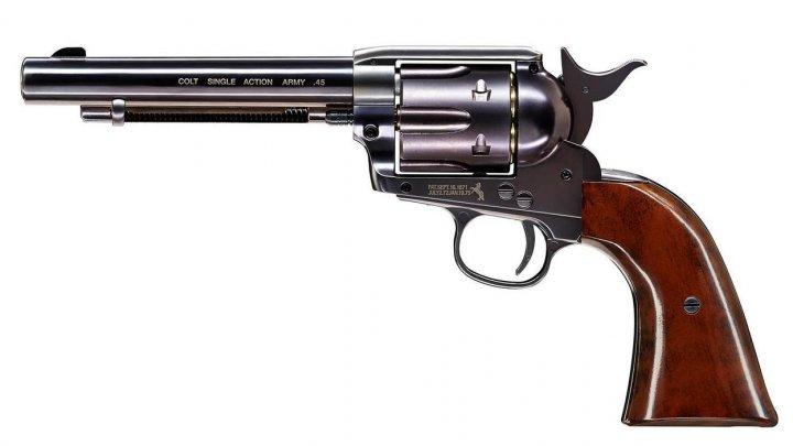 Пистолет пневматический Umarex Colt Single Action Army 45 (пульки) Brown - зображення 1
