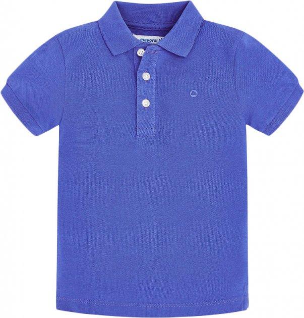 Поло Mayoral Mini Boy 150-13 6A Синее (2900150013067) - изображение 1