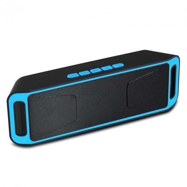 Акустична система UKC портативна колонка Megabass A2DP Stereo Bluetooth USB FM 20см Синьо-чорна (SC-208-4) - зображення 1