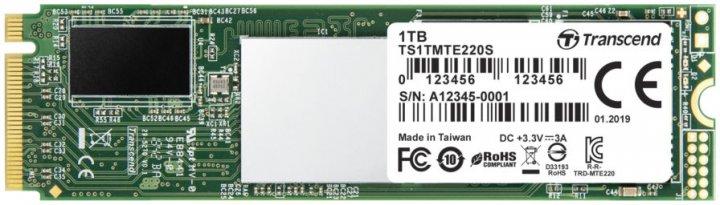 Transcend SSD MTE220S 1ТB M.2 PCIe Gen 3.0 3D NAND (TS1TMTE220S) - изображение 1