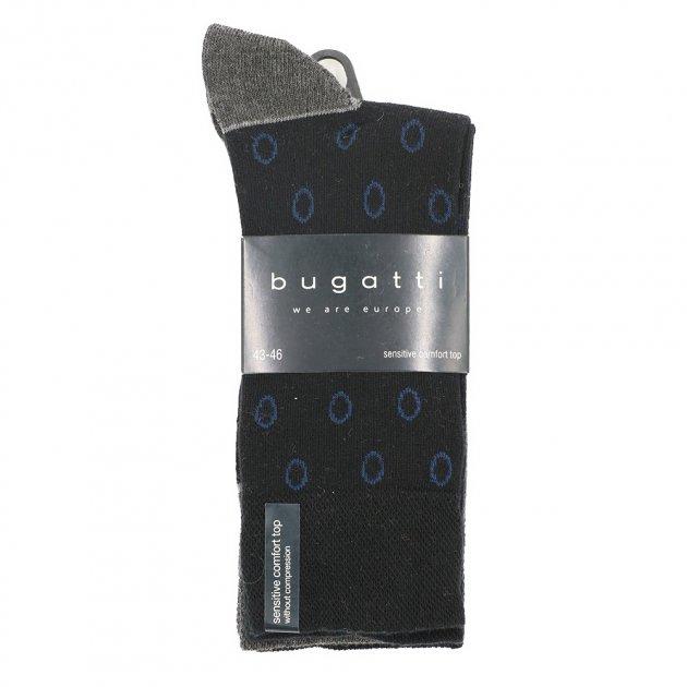 Набор из 3-х пар мужских носков Bugatti 43-46 Черный с серым 6907610 - изображение 1