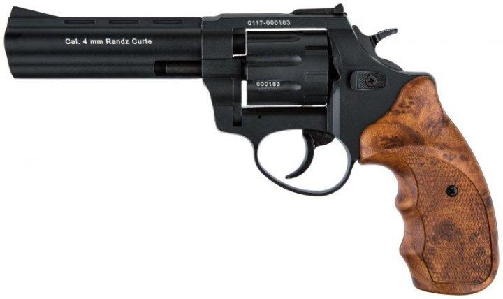 """Револьвер під патрон Флобера 4 мм Stalker S 4,5"""" Brown (силуміновий барабан) - зображення 1"""