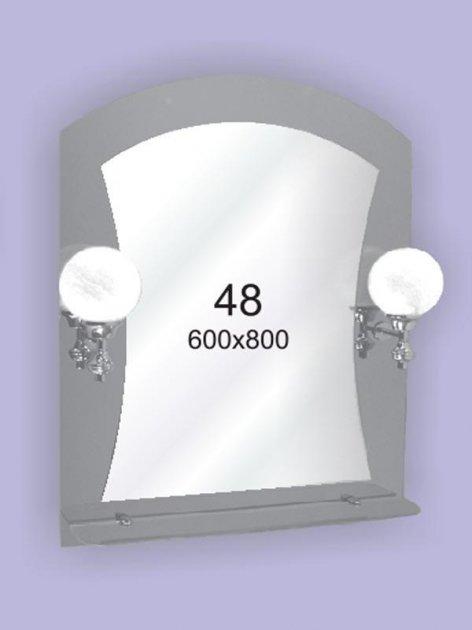Зеркало для ванной комнаты 600х800 Ф48 БЕЗ СВЕТИЛЬНИКОВ - изображение 1