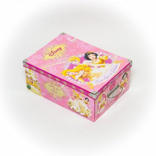 Коробка гардеробная картонная с металлическими ручками Evoluzione 30 х 42 х 17 см Принцессы (29) - изображение 1
