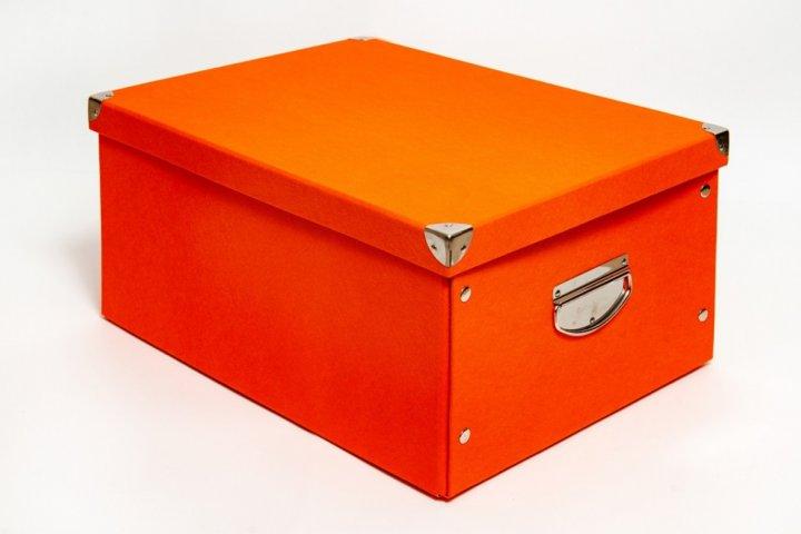 Коробка картонная с металлическими ручками Evoluzione 36 х 48 х 23 см Оранжевая (11) - зображення 1